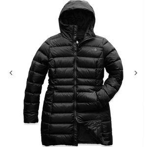 Black north face women's winter coat size xl